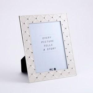 珍羽金屬相框 白菱格 5X7
