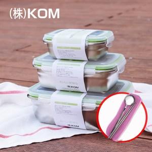 【KOM】愛地球-環保餐具組合-3組入三件組+櫻花粉餐具組