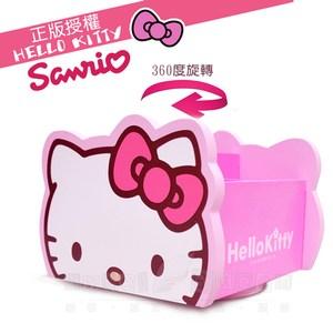 Hello Kitty 旋轉收納盒 飾品盒 置物盒(台灣製正版授權)