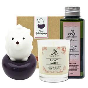 ThaiScent泰香 Spiky小刺蝟mini擴香精香氛蠟燭超值組摩洛哥玫瑰