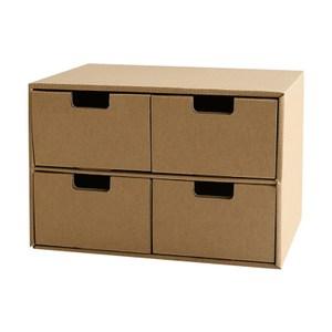 創意抽屜式收納盒-4格