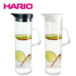 [特價]【HARIO】經典按壓式耐熱玻璃冷水壺1100ml/玻璃把手(兩色任選酷炫黑
