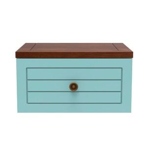 實木創意自由組合櫃-藍色