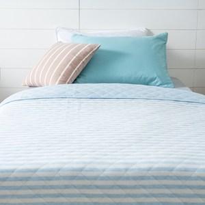 竹節棉親膚針織涼被150x200cm 藍