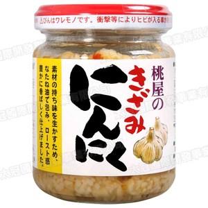 日本桃屋千切大蒜調味料125g