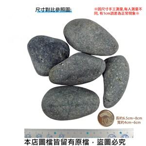 黑卵石 1吋 20公斤±5%裝 (黑色鵝卵石.健康步道石)