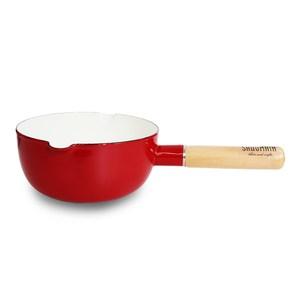 仙德曼SADOMAIN 琺瑯雪平鍋18cm(復古紅)
