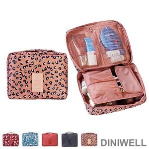 DINIWELL新一代加大防水旅行盥洗收納包 粉色豹紋