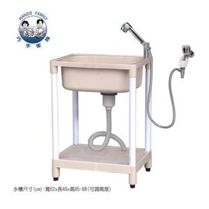 中型洗衣水槽(附手持式二段蓮蓬頭及軟管安裝套組) F62-B