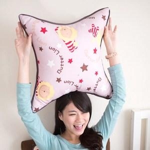 【奶油獅】正版授權 台灣製造-搖滾星星可拆洗方型抱枕(淡紫)