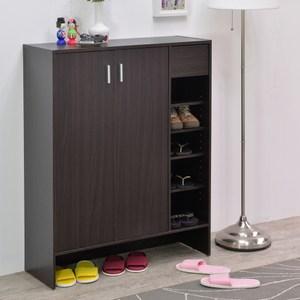 【TZUMii】普羅雙門一抽鞋櫃-雙色可選胡桃木色