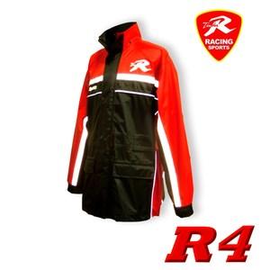 天德牌 R4多功能護足型風雨衣 (上衣輕薄版)(兩件式)紅【M 】155~160cm