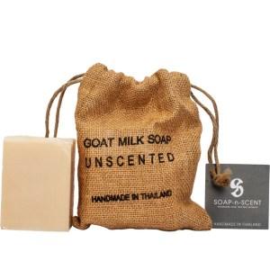 ThaiScent泰香 麻布袋純淨原味山羊奶手工皂270g