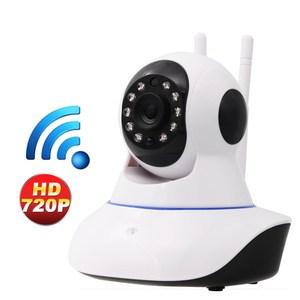 視訊王 雙天線旋轉鏡頭紅外線夜視WiFi監控攝影機白色