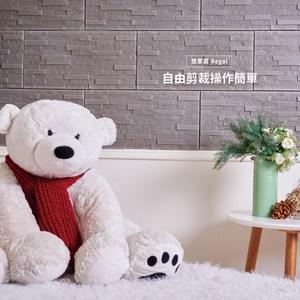 【悠家居Regal】台灣製3D立體防撞吸音泡棉壁貼磚-板岩灰(4片)60x30cm
