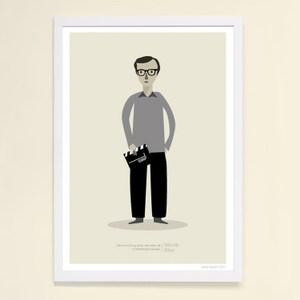【摩達客】西班牙知名插畫家Judy Kaufmann藝術創作海報版畫掛畫裝飾畫-伍迪艾倫