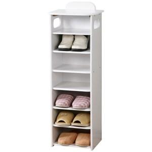 Homelike 新歐風七層置物鞋櫃 純白色