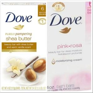 【美國進口 Dove】乳油木果/玫瑰香香皂(4oz.)*6/*4