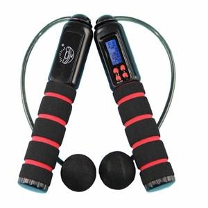 【PUSH!休閒運動用品】加重設計跳繩黑色H04