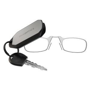 THINOPTICS 隨身輕薄老花眼鏡+攜帶鑰匙圈 (透明200度)