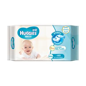 好奇 純水嬰兒濕巾 一般型100抽(3包x6組/箱)