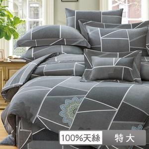 【貝兒居家寢飾生活館】裸睡系列60支天絲兩用被床包組(特大/奧爾索)