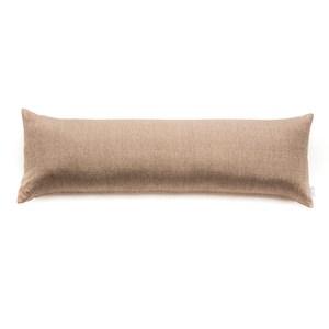HOLA 素色織紋長抱枕40x120cm 棕色