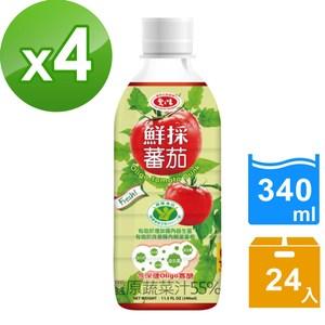 【愛之味】Oligo健字號鮮採蕃茄汁340ML(24瓶/箱)*4箱組