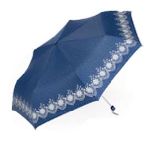 【Weather Me】花樣鋼筆輕量抗UV傘(深藍)