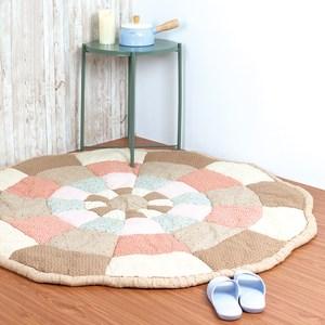 樂嫚妮 棉質地毯 饅頭墊 榻榻米墊 萬用墊 145X145cm-咖啡咖啡