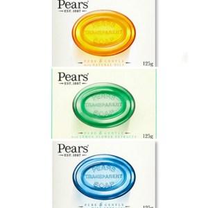 印度 Pears 梨牌 保濕甘油香皂-3色(125g)*24