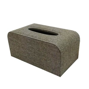 品味布緻面紙盒 亞麻灰