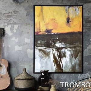 TROMSO時尚風華抽象有框畫大幅-金碧磐石W959