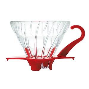 【HARIO】V60紅色01玻璃濾杯/VDG-01R