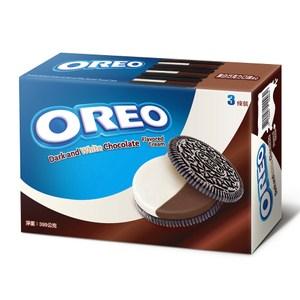 OREO 奧利奧黑白巧克力口味夾心餅乾(399g)x12入 箱購