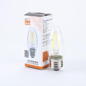 PRO特選蠟燭型LED燈絲燈泡4W清光E27晝光色