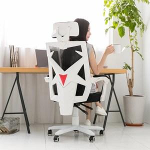 [特價]【STYLE 格調】亞德曼高背可調式頭枕透氣機能款電腦椅/辦公椅白框