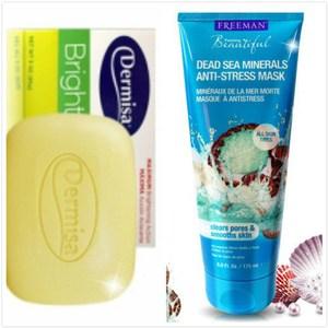 Dermisa 淡斑嫩白皂(85g) *2+Freeman水洗式死海礦鹽淨白面