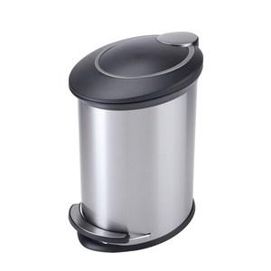 HOLA 紐約緩降防指紋垃圾桶12L 銀色
