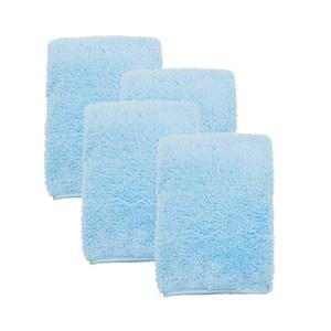 (組)極超細纖維素色毛巾-藍37x75cm 4入組