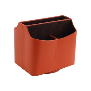 LOVEL義大利設計皮革辦公收納-旋轉收納盒