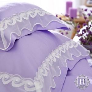 【HOYA H Series潘朵拉紫】特大五件式天絲蕾絲被套床包組