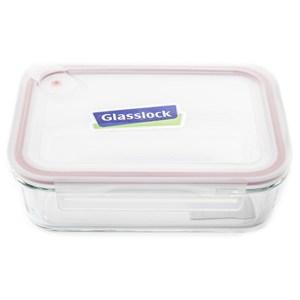 Glasslock 強化玻璃可微波氣孔上蓋保鮮盒 長方形 1000ml