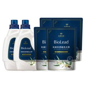 《台塑生醫》BioLead抗敏原濃縮洗衣精(2瓶+4包)