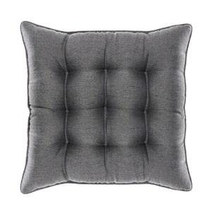HOLA 新素色織紋地坐墊48x48cm 炭灰色