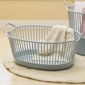 橢圓塑膠透氣洗衣籃