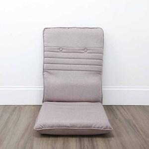 HOLA 亞爾仿麻彈力釋壓椅背和室椅卡其