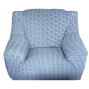 HOLA 色織彈性一人沙發套110x88cm 藍色
