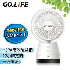 GOLiFE GoFresh 負離子空氣清淨風扇(三段式桌上/車用淨化