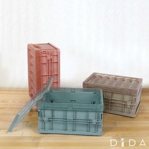 【DIDA】一秒折疊收納整理箱(中款*3)藍色
